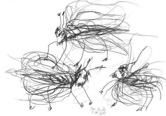 three flyes